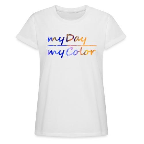 myDay Schriftzug - Frauen Oversize T-Shirt