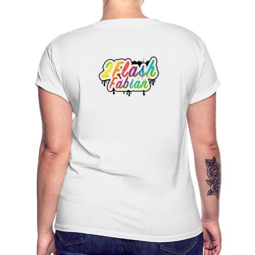 2Flash Fabian Backprint weiß - Frauen Oversize T-Shirt