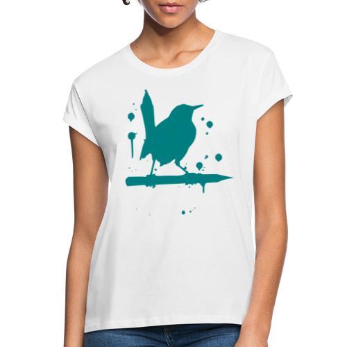 giantLeap vogel druck - Frauen Oversize T-Shirt
