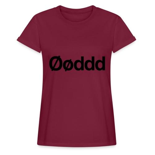 Øøddd (sort skrift) - Dame oversize T-shirt