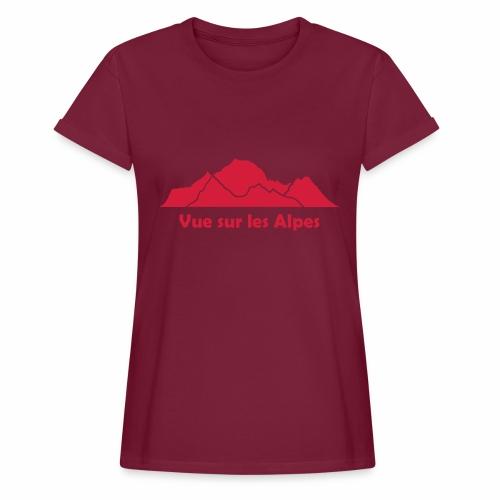 Vue sur les Alpes - T-shirt oversize Femme