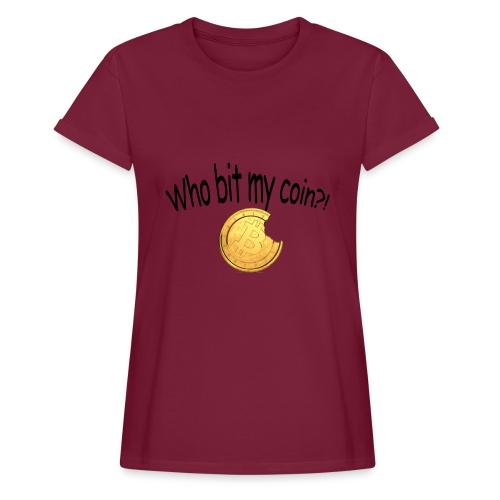 Bitcoin bite - Vrouwen oversize T-shirt