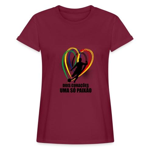 Fußball-Shirt Brasilien - Deutschland - Frauen Oversize T-Shirt