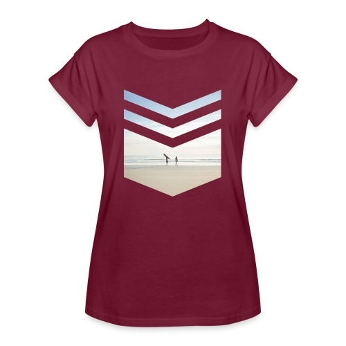 Surfing Beach - Frauen Oversize T-Shirt
