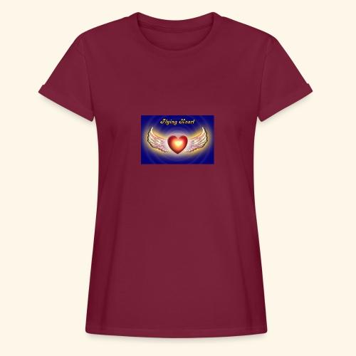 Flying Heart - Frauen Oversize T-Shirt