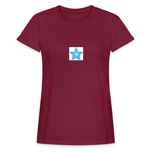blue themed christmas star 0515 1012 0322 4634 SMU - Women's Oversize T-Shirt