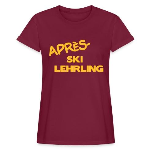 Après Ski Lehrling, Winter Shirt - Frauen Oversize T-Shirt