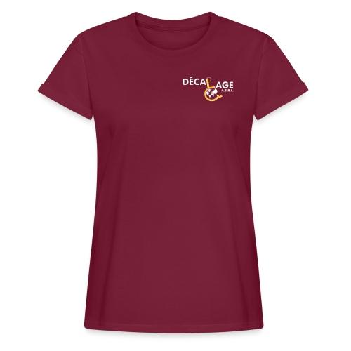 Logo vectoriel large - T-shirt oversize Femme