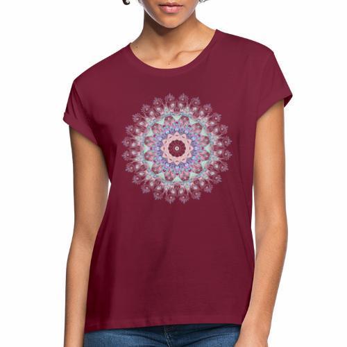 Hvid mandala - Dame oversize T-shirt