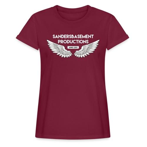 T SHIRT logo wit png png - Vrouwen oversize T-shirt