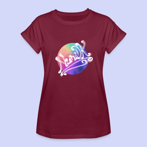 pastel rainbow, NuniDK Collection - Female top - Dame oversize T-shirt