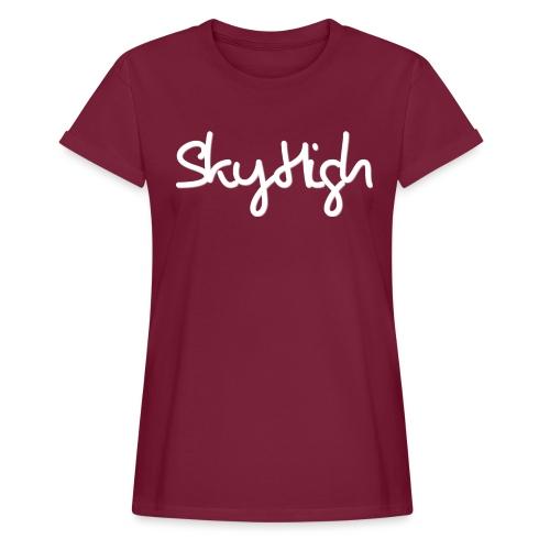 SkyHigh - Men's Premium T-Shirt - White Lettering - Women's Oversize T-Shirt