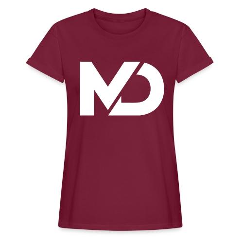 logo_wit - Vrouwen oversize T-shirt