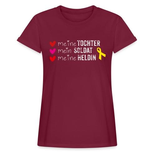 Meine Tochter Soldat Heldin weiss - Frauen Oversize T-Shirt