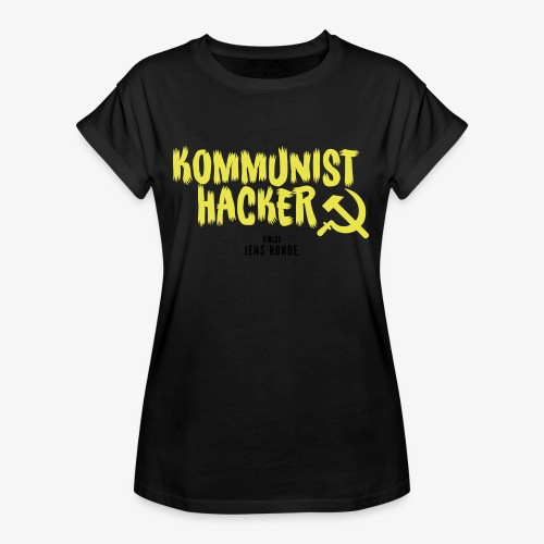 Kommunist Hacker ifølge Jens - Dame oversize T-shirt