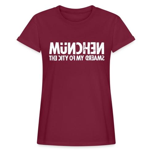 München (white oldstyle) - Frauen Oversize T-Shirt