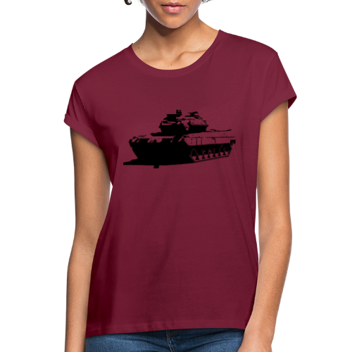 Leopard 2 Kampfpanzer - Stridsvagn 122 - Oversize-T-shirt dam