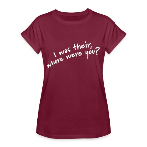 Dyslexic I was there - Vrouwen oversize T-shirt