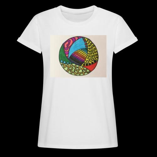 circle corlor - Dame oversize T-shirt