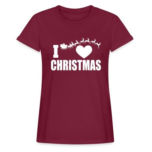 I Love Christmas Heart Natale - Maglietta ampia da donna