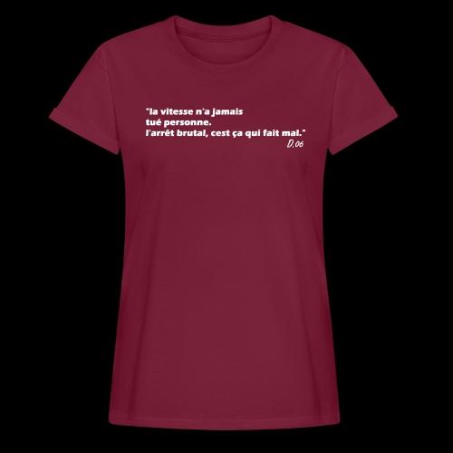 vitesse (blanc) - T-shirt oversize Femme