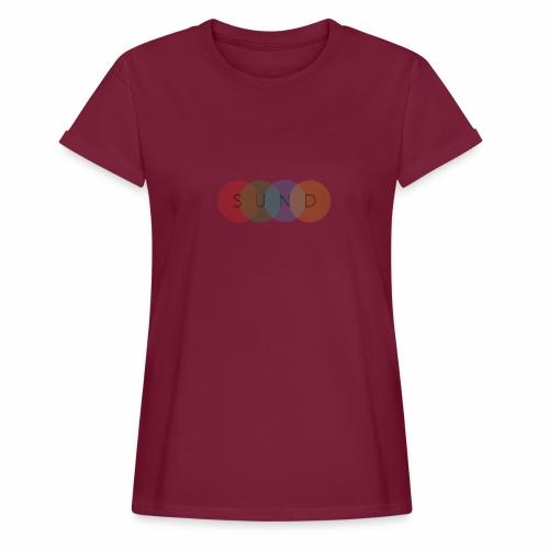 sund color - Vrouwen oversize T-shirt