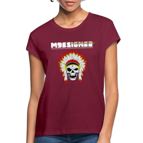 calavera o craneo con penacho de plumas vampiresco - Camiseta holgada de mujer