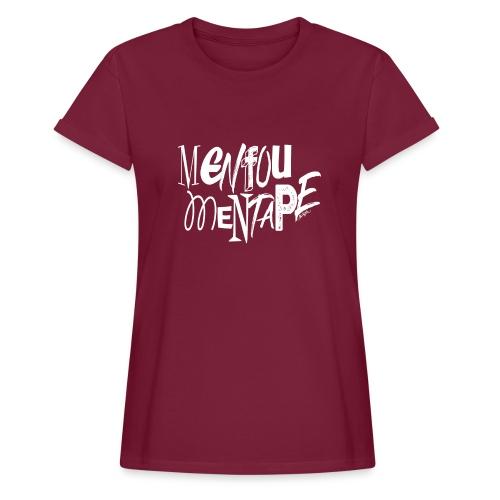 MENFOUMENTAPE (blanc sans contours) by Alice Kara - T-shirt oversize Femme
