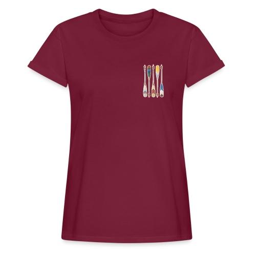 canoe front - Frauen Oversize T-Shirt
