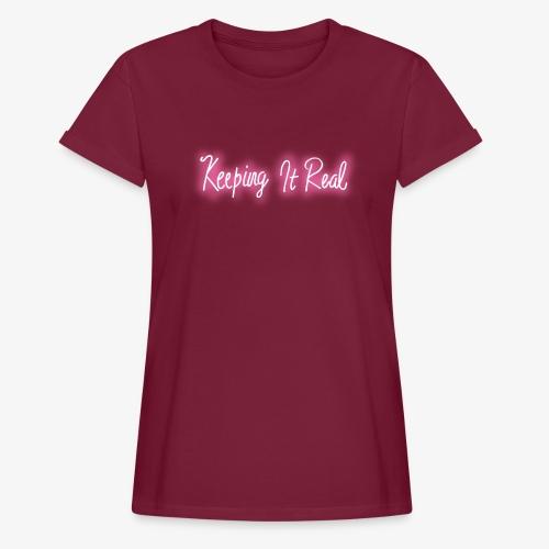Pretty in White - Frauen Oversize T-Shirt