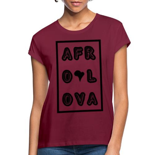 Afro Lova Rectangle - T-shirt oversize Femme