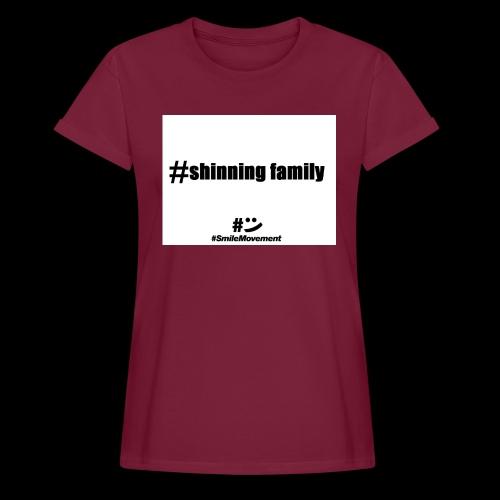 shinning family - T-shirt oversize Femme