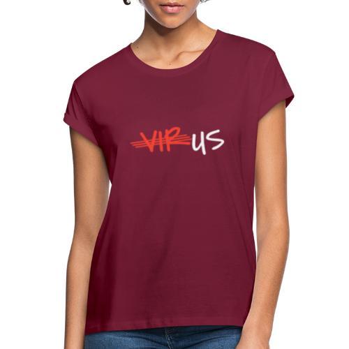 T-Shirt gegen Corona und für ein Miteinander - Frauen Oversize T-Shirt