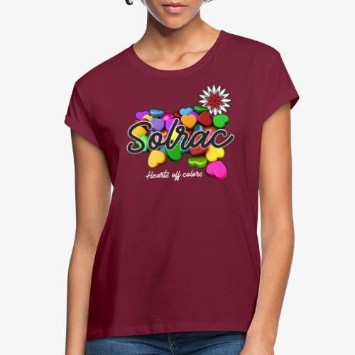 SOLRAC Hearts black - Camiseta holgada de mujer