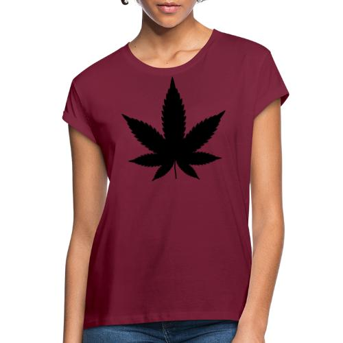 CannabisBlack - Frauen Oversize T-Shirt