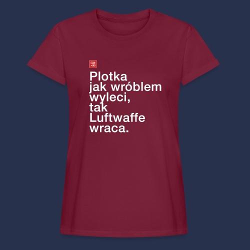 plotka - napis jasny - Koszulka damska oversize