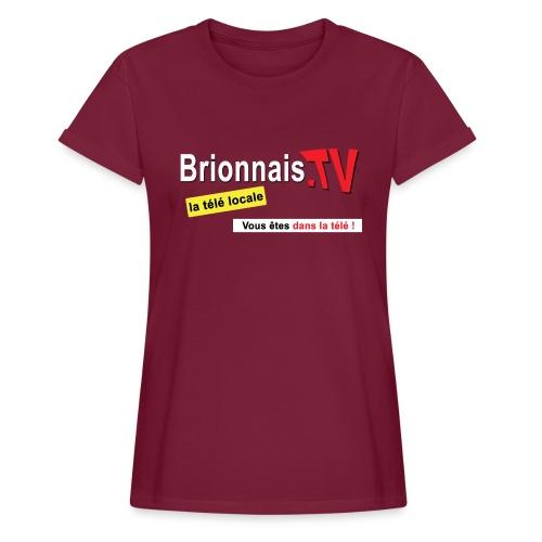 BTV logo shirt dos - T-shirt oversize Femme