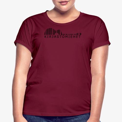 Kirjastokitara musta - Naisten oversized-t-paita