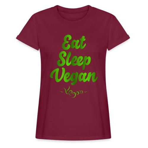 Eat Sleep Vegan - Naisten oversized-t-paita
