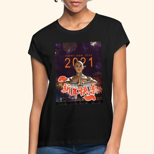 Gordon Liu as SanTe - Warrior Monk - Happy NewYear - Vrouwen oversize T-shirt
