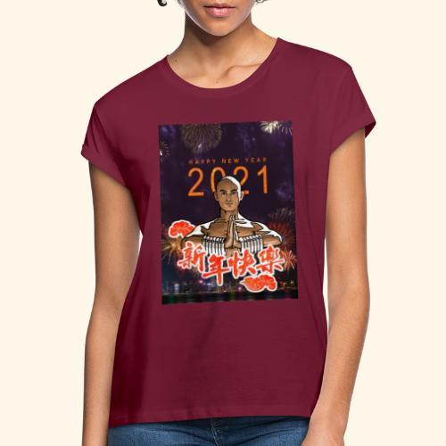 Gordon Liu as San Te - Warrior MonK - New Year - Vrouwen oversize T-shirt