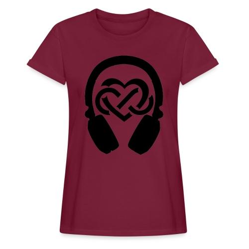 Liefde voor muziek - Vrouwen oversize T-shirt