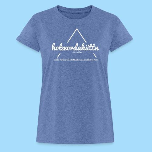 Holzvordahüttn - Frauen Oversize T-Shirt