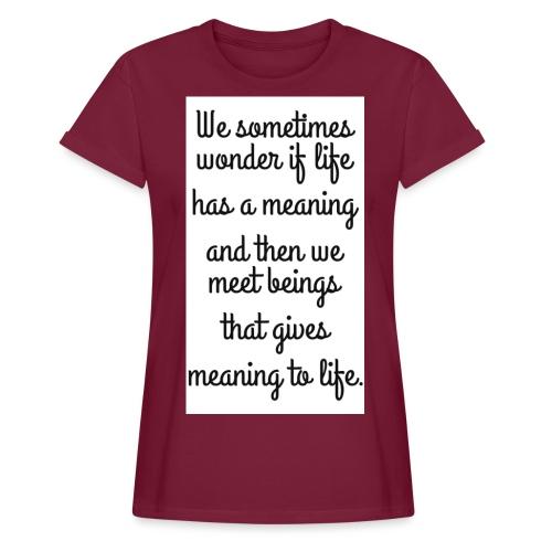 Phrase d'amour en anglais - T-shirt oversize Femme