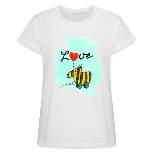 Janosch Verliebte Tigerente Herz Love - Frauen Oversize T-Shirt