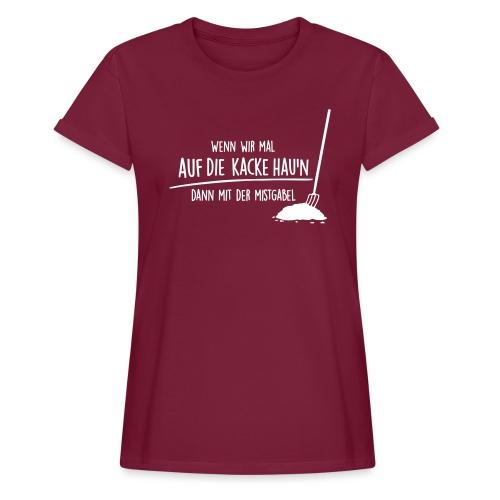 Vorschau: auf die kacke haun - Frauen Oversize T-Shirt