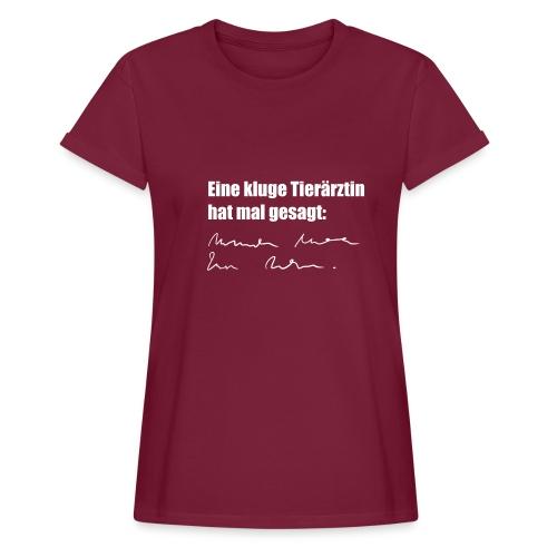Kluge Tierärztin - Frauen Oversize T-Shirt