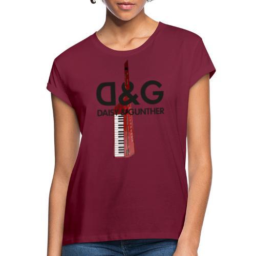 Met keytar-logo - Vrouwen oversize T-shirt