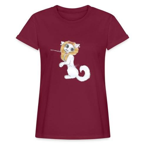 Comic Katze - Frauen Oversize T-Shirt