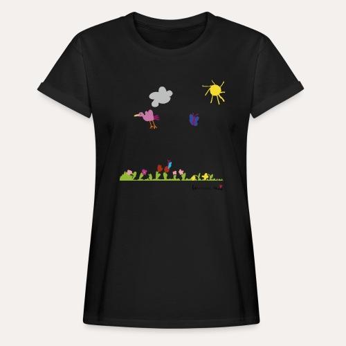 Blumenwiese von Marie - Frauen Oversize T-Shirt